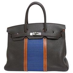 Hermes Birkin 35 Limited Edition Club Tri-Color Tote Handle Tote Bag