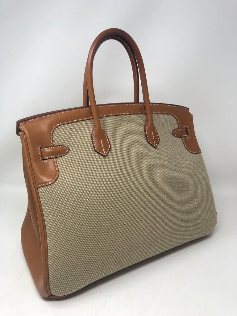 Brown Hermes Birkin 35 Limited Edition  For Sale