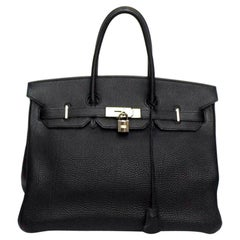 Hermès Birkin 35 Noir Togo Leather Bag