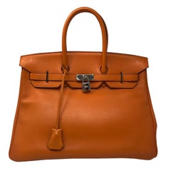 Hermes Birkin 35 Orange Bag