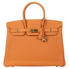 Hermès Birkin 35 Orange Togo GHW