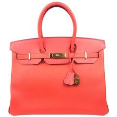 Hermes Birkin 35 Rose Jaipur Pink Epsom Gold Hardware