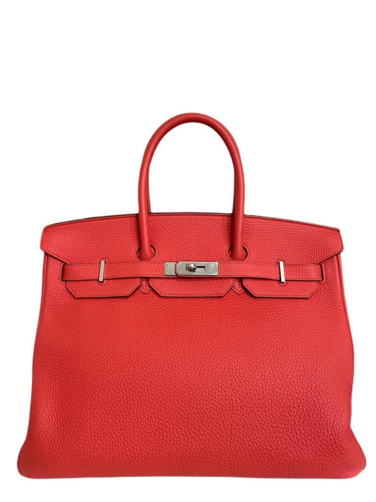 RARE HERMES BIRKIN ROSE JAIPUR PINK RED PALLADIUM HARDWARE. Excellent condition, Light hairlines on hardware perfect corners and Buttery structure.   Shop with Confidence from Lux Addicts. Authenticity Guaranteed!