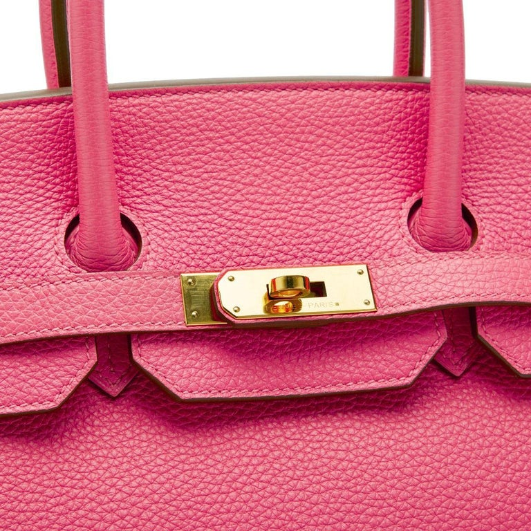 Pink Hermès Birkin 35 Rose Lipstick Stamp  For Sale