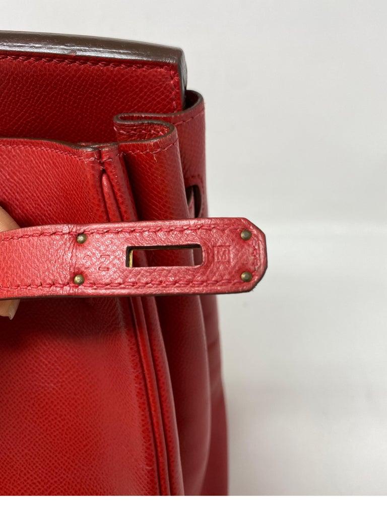 Hermes Birkin 35 Rouge Casaque Bag  For Sale 5