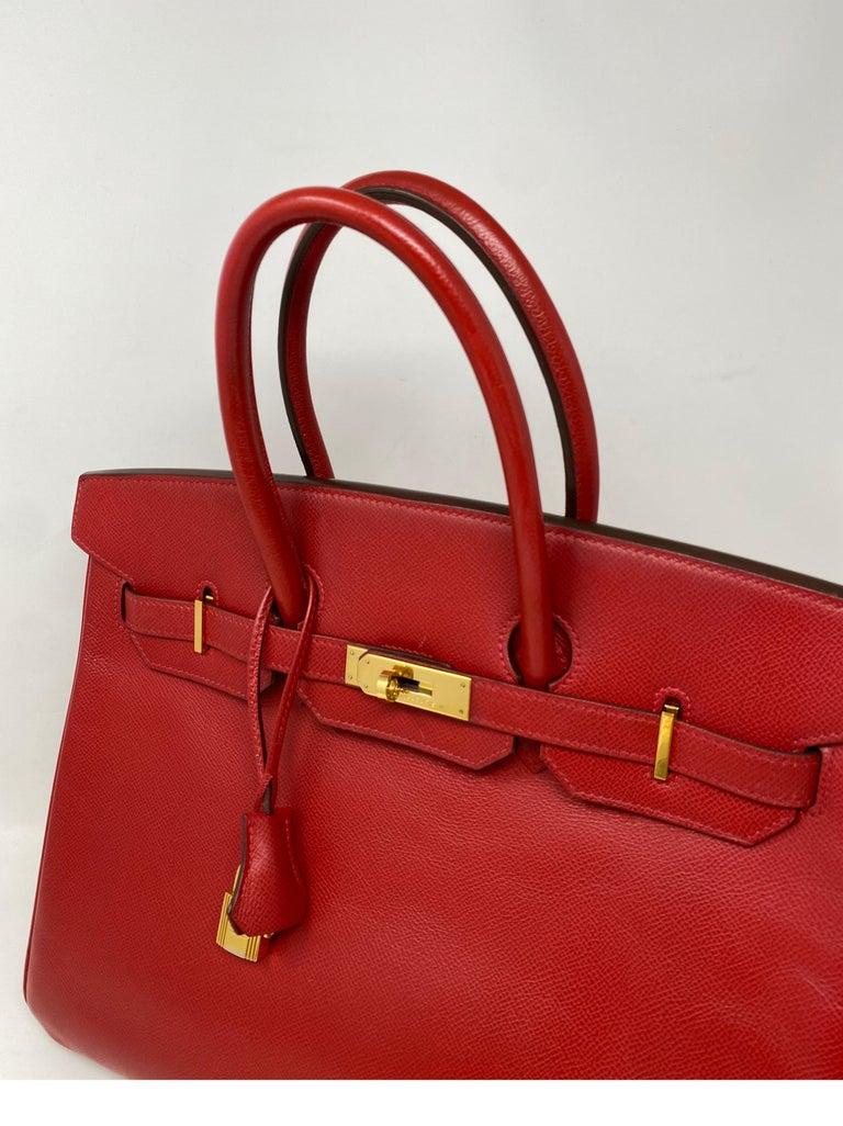 Hermes Birkin 35 Rouge Casaque Bag  For Sale 9