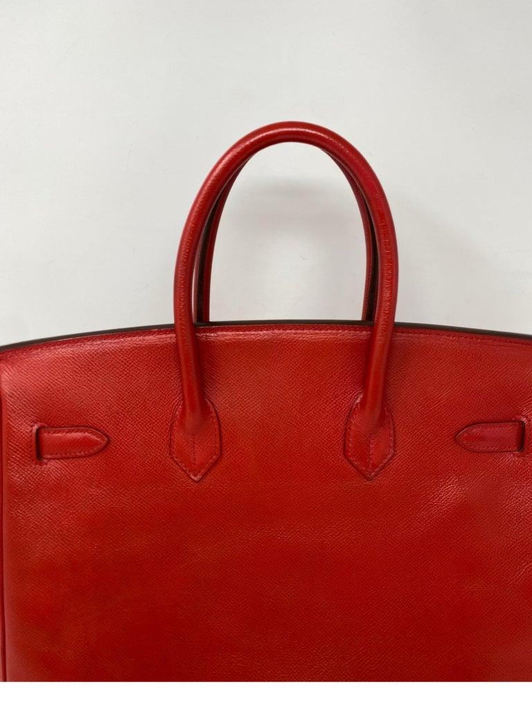 Hermes Birkin 35 Rouge Casaque Bag  For Sale 10