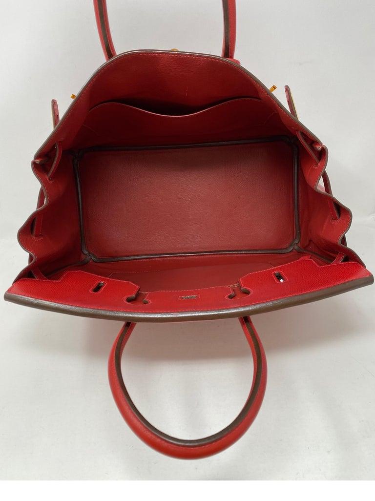 Hermes Birkin 35 Rouge Casaque Bag  For Sale 13