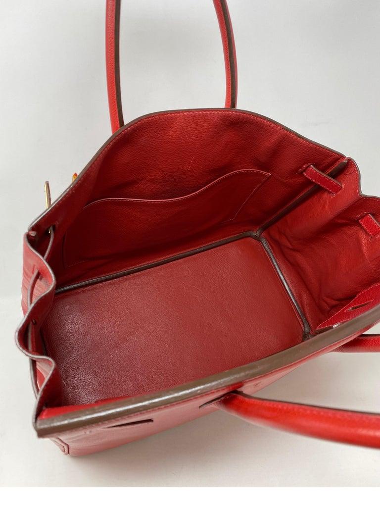 Hermes Birkin 35 Rouge Casaque Bag  For Sale 14