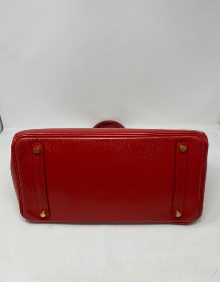 Hermes Birkin 35 Rouge Casaque Bag  For Sale 1