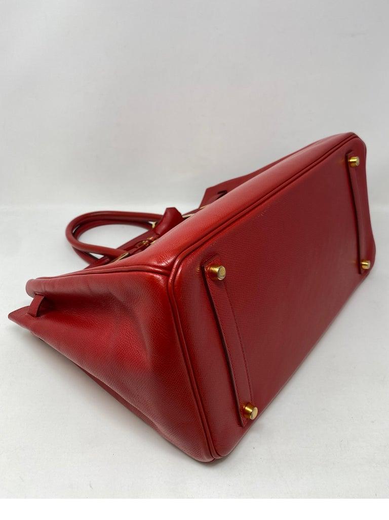 Hermes Birkin 35 Rouge Casaque Bag  For Sale 2