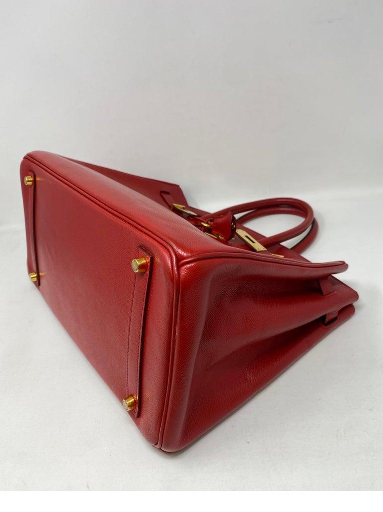 Hermes Birkin 35 Rouge Casaque Bag  For Sale 3