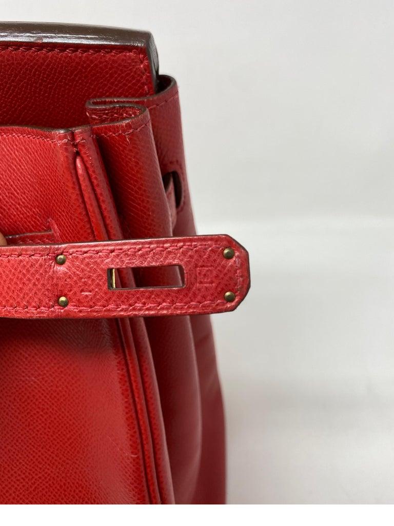 Hermes Birkin 35 Rouge Casaque Bag  For Sale 4