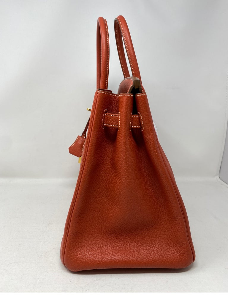 Hermes Birkin 35 Sanguine Bag In Excellent Condition For Sale In Athens, GA