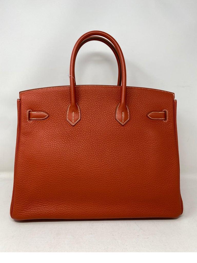 Women's or Men's Hermes Birkin 35 Sanguine Bag For Sale