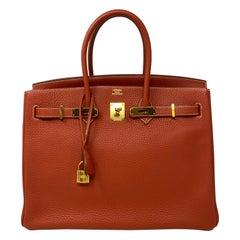 Hermes Birkin 35 Sanguine Bag