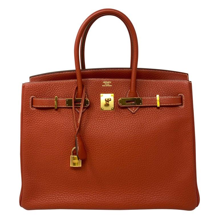 Hermes Birkin 35 Sanguine Bag For Sale