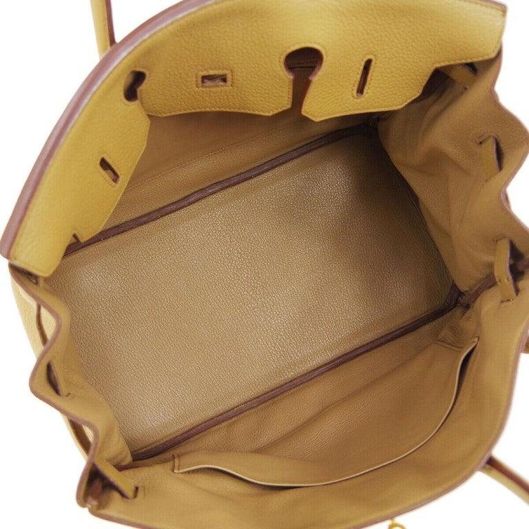 Hermes Birkin 35 Tan Cognac Leather Top Handle Satchel Travel Tote Bag 2