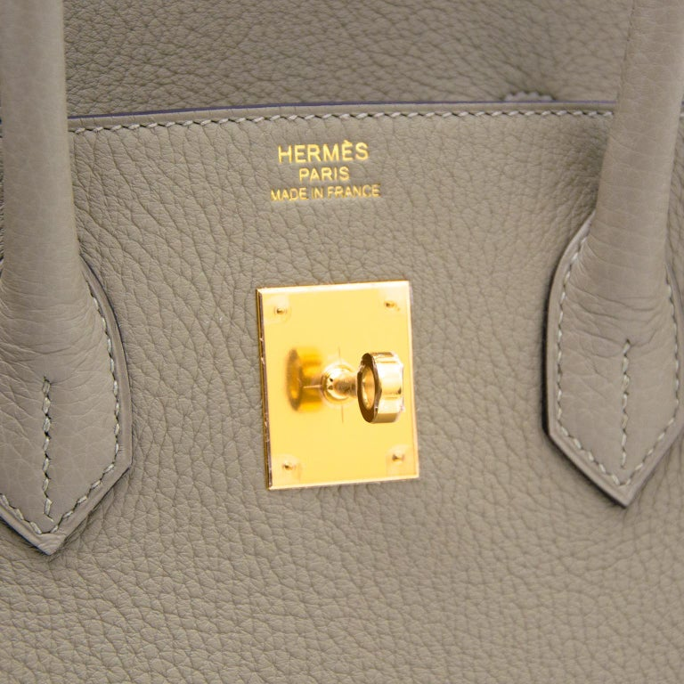 Hermès Birkin 35 Taurillon Clemence Sauge In New Condition For Sale In Antwerp, BE