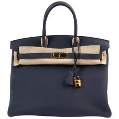 Hermès Birkin 35 Togo Bleu Nuit GHW