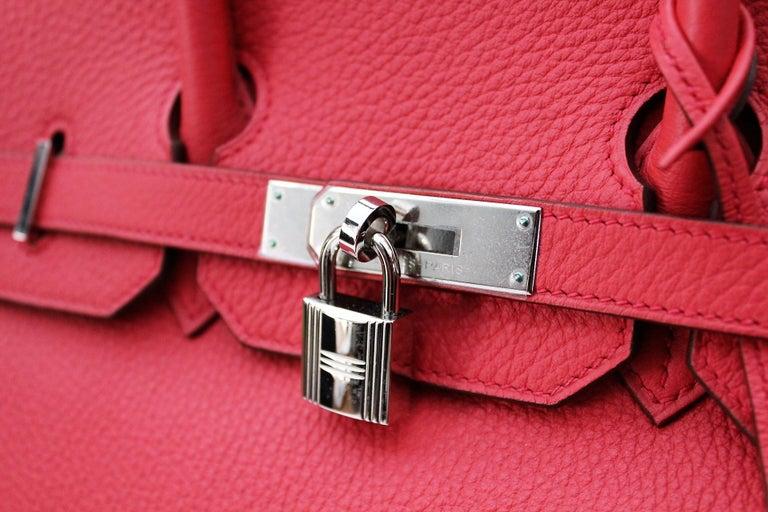 Hermes Birkin 35 cm Togo Leather Rose Jaipur  Silver Hardware Serial Number: [N] 2010