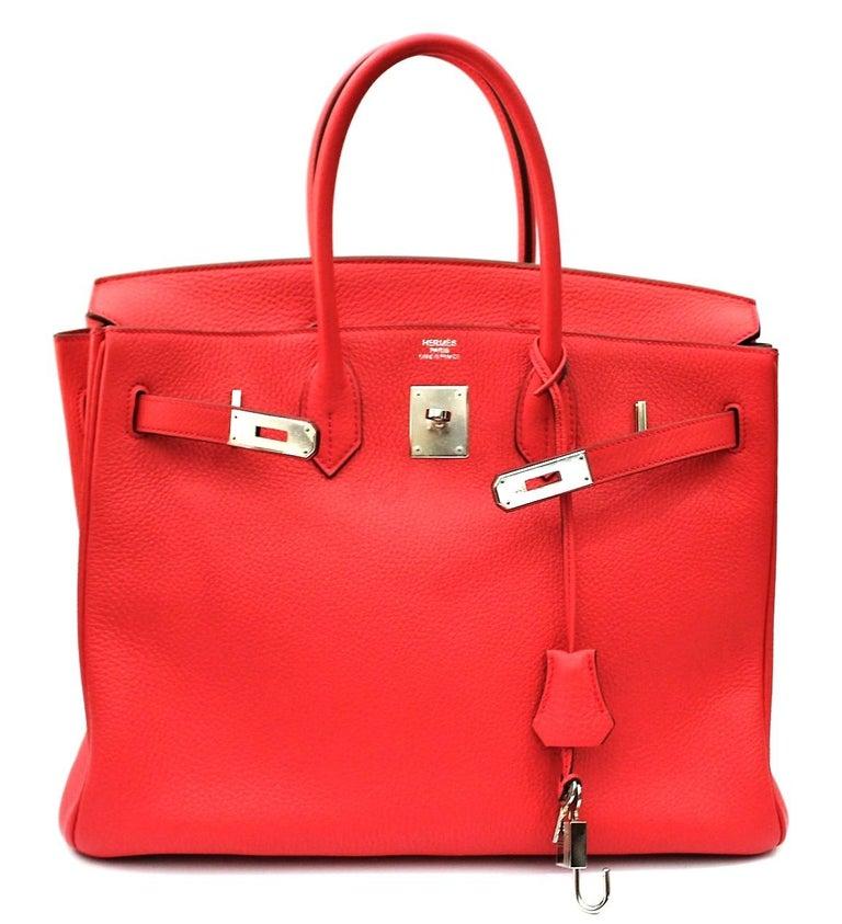 Hermes Birkin 35 Togo Rose Jaipur In Excellent Condition For Sale In Torre Del Greco, IT