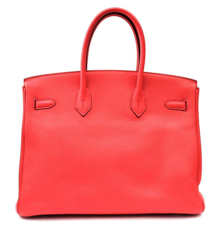 Hermes Birkin 35 Togo Rose Jaipur For Sale 4