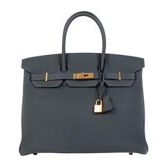 Hermès Birkin 35 Vert Rousseau Togo GHW