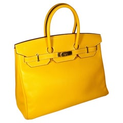 Hermes Birkin 35 Yellow Jaune D'Or Candy Limited Edition Epsom Handbag