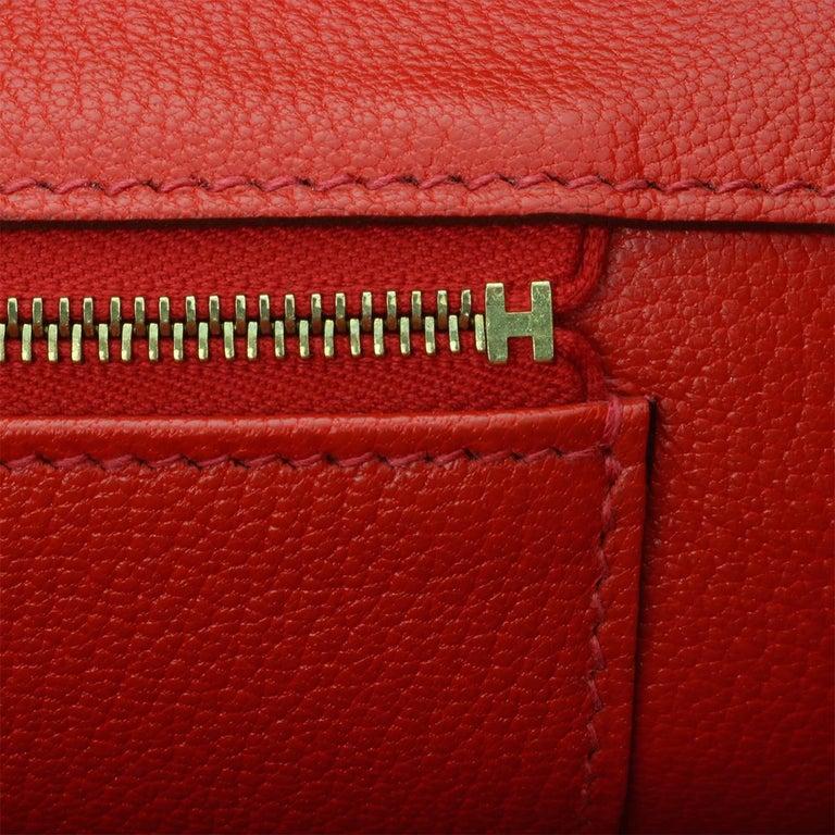 Hermès Birkin 35cm Bag Geranium Togo Leather with Gold Hardware Stamp P 2012 For Sale 10