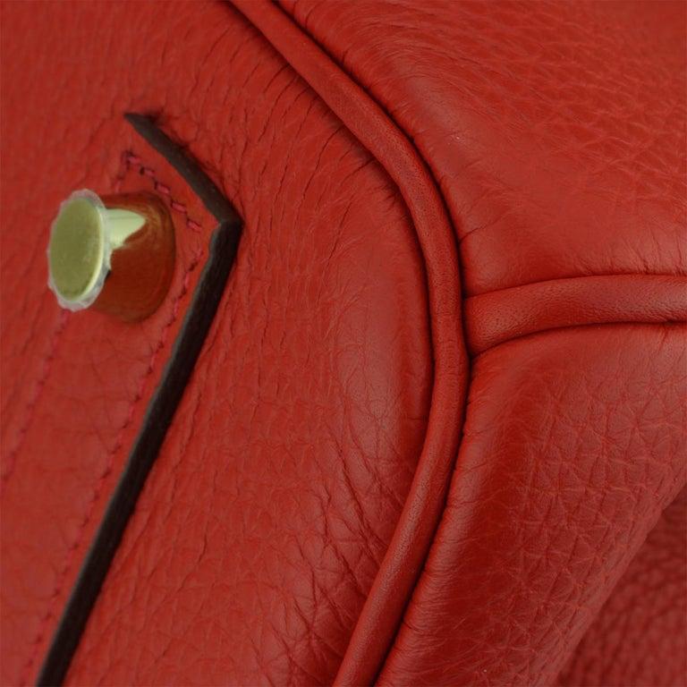 Hermès Birkin 35cm Bag Geranium Togo Leather with Gold Hardware Stamp P 2012 For Sale 2