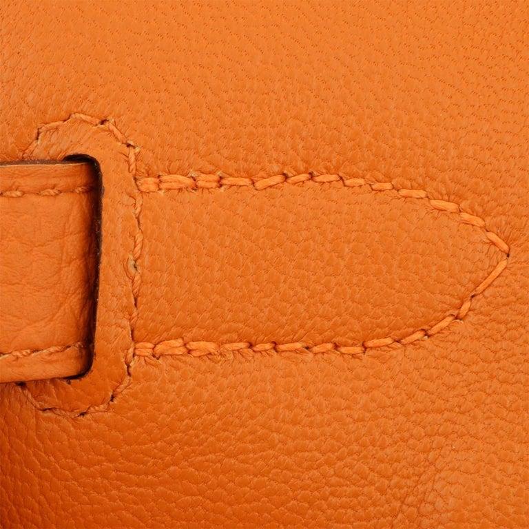 Hermès Birkin 35cm Bag Orange Togo Leather with Gold Hardware Stamp R Year 2014 For Sale 13
