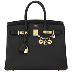 Hermes Birkin 35cm Black Epsom Gold Hardware NEW