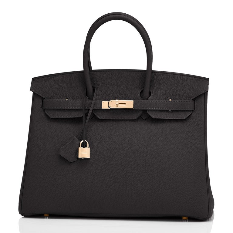 Hermes Black Togo 35cm Birkin Rose Gold Hardware Power Birkin Z Stamp 2021 Just purchased from Hermes store; bag bears new 2021 interior Z stamp. Brand New in Box. Store fresh. Pristine Condition (with plastic on hardware).  Perfect gift! Comes with