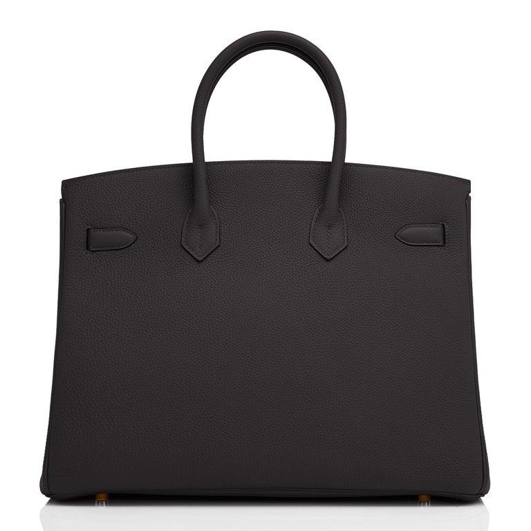 Hermes Birkin 35cm Black Rose Gold Hardware Togo Bag Z Stamp, 2021 For Sale 1