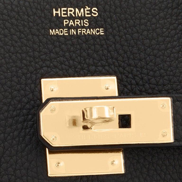 Hermes Birkin 35cm Black Togo Gold Hardware Bag Y Stamp, 2020 For Sale 6