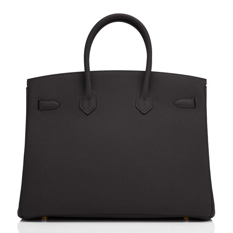 Hermes Birkin 35cm Black Togo Gold Hardware Bag Y Stamp, 2020 For Sale 1