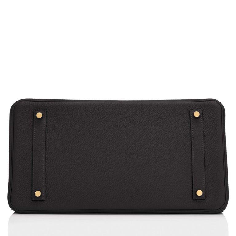 Hermes Birkin 35cm Black Togo Gold Hardware Bag Y Stamp, 2020 For Sale 3