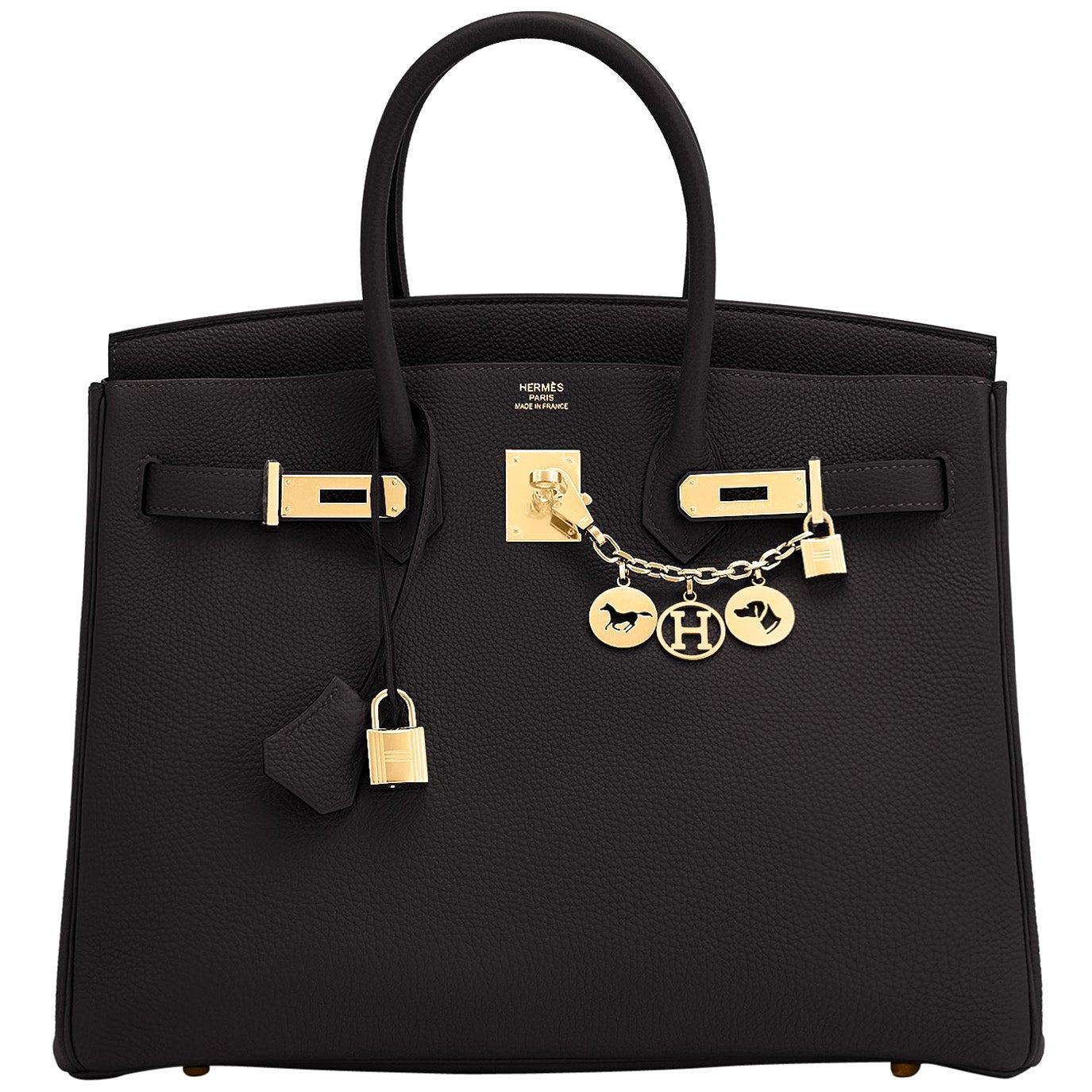 Hermes Birkin 35cm Black Togo Gold Hardware Bag Y Stamp, 2020