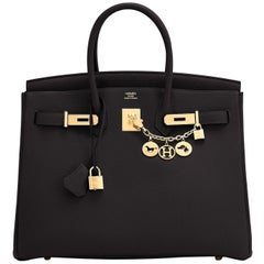 Hermes Birkin 35cm Black Togo Gold Hardware Bag Y Stamp, 2020
