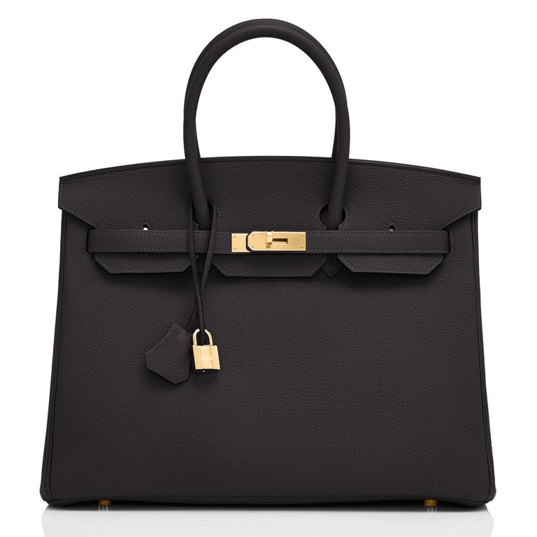 Hermes Birkin 35cm Black Togo Gold Hardware Bag Z Stamp, 2021 In New Condition In New York, NY
