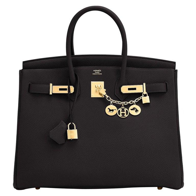Hermes Birkin 35cm Black Togo Gold Hardware Bag Z Stamp, 2021