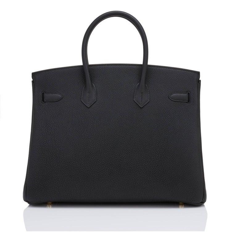 Hermes Birkin 35cm Black Togo Gold Hardware Y Stamp Bag, 2020 For Sale 1