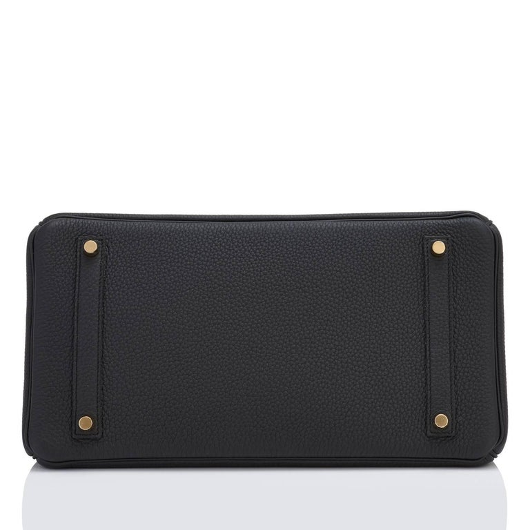 Hermes Birkin 35cm Black Togo Gold Hardware Y Stamp Bag, 2020 For Sale 2