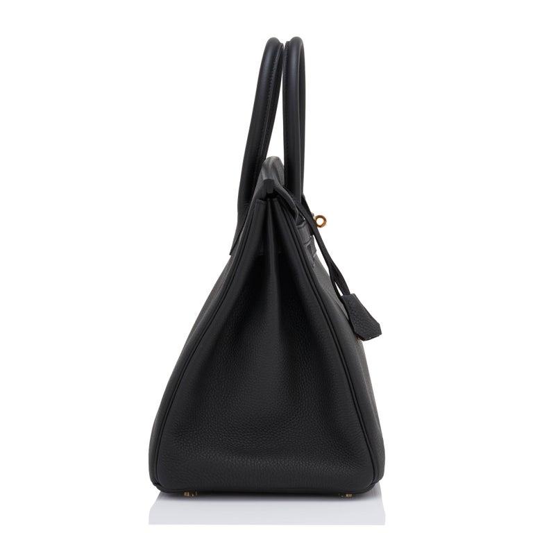 Hermes Birkin 35cm Black Togo Gold Hardware Y Stamp Bag, 2020 For Sale 3
