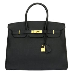 Hermès Birkin 35cm Black Togo Leather with Gold Hardware Stamp X 2016