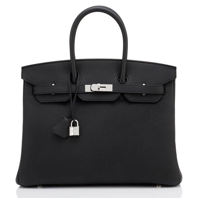 Hermes Birkin 35cm Black Togo Palladium Hardware Bag Z Stamp, 2021 In New Condition For Sale In New York, NY
