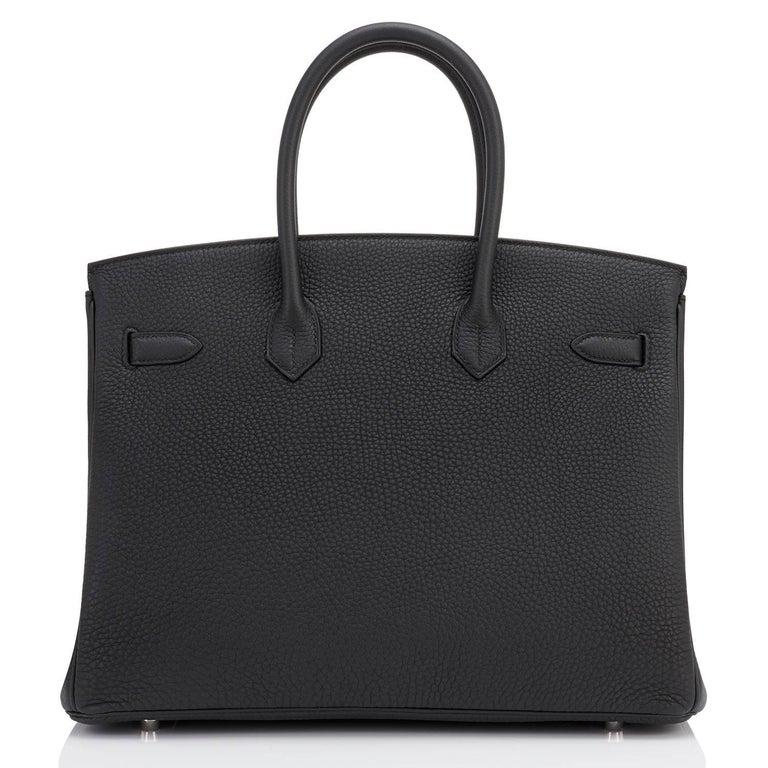 Hermes Birkin 35cm Black Togo Palladium Hardware Bag Z Stamp, 2021 For Sale 2