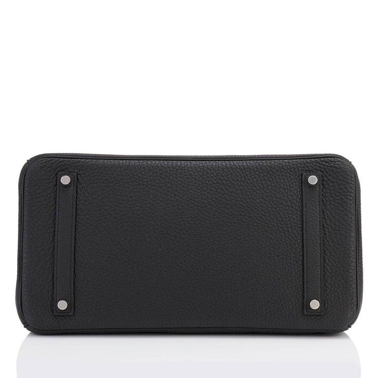Hermes Birkin 35cm Black Togo Palladium Hardware Bag Z Stamp, 2021 For Sale 3