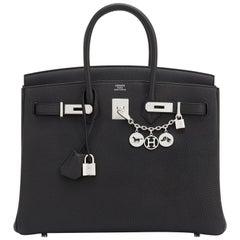 Hermes Birkin 35cm Black Togo Palladium Hardware Bag Z Stamp, 2021